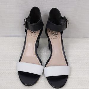 Vince Camuto - Black & White dress wedge heels